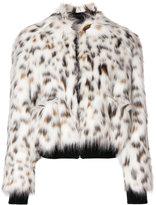 MSGM faux fur bomber jacket