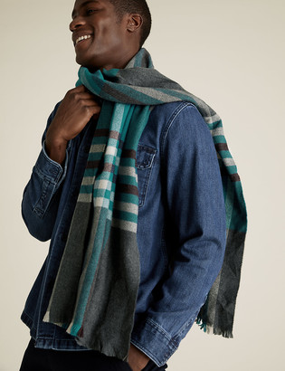 Marks and Spencer Wider Width Checked Scarf