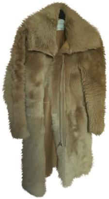 BEIGE Zara Shearling Coat for Women