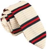 D.berite Men's Striped Tie Knit Knitted Necktie Narrow Slim Skinny