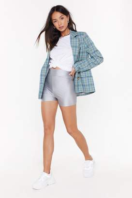 Nasty Gal Womens Up All Tight Fitted Shorts - grey - 10