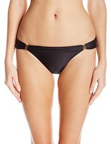 Vix Women's Solid Black Full Sunset Bia Tube Bikini Bottom