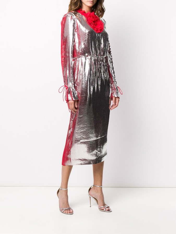 Thumbnail for your product : Marco De Vincenzo Rushed Detail Dress