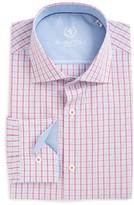 Bugatchi Men's Big & Tall Trim Fit Check Dress Shirt