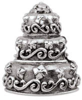 Zales PersonaA Sterling Silver Oxidized 3-Tier Wedding Cake Charm