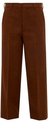 Raey Flood-crop Wool Harris-tweed Tailored Trousers - Bronze