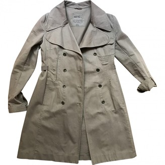 Miu Miu Camel Cotton Trench Coat for Women