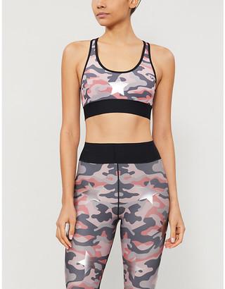 ULTRACOR Camouflage-print stretch-jersey sports bra