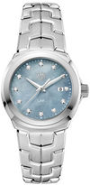 Tag Heuer Diamonds, Mother-of-Pearl and Stainless Steel Link Bracelet Watch