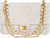 One Kings Lane Vintage Chanel White Lambskin Double Flap
