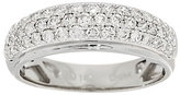 Micropave Affinity Diamond Jewelry Micro-Pave' Diamond Band Ring, 14K, 6/10 cttw, by Affinity