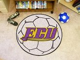 Fanmats Soccer Ball Area Rug w Official East Carolina University Logo