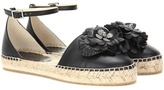Jimmy Choo Dylan Flat leather espadrilles
