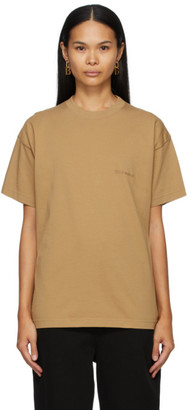 Balenciaga Tan Medium Fit T-Shirt