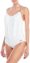 Vince Camuto One-Piece Blouson Swimsuit