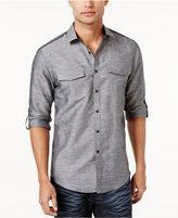 INC International Concepts Men's Linen Blend Roll-Tab Shirt, Created for Macy's