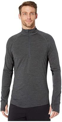 Icebreaker BodyfitZONEtm 200 Zone Long Sleeve Half Zip (Jet Heather/Black 1) Men's Clothing