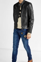 Belstaff Leather Jacket with Quilted Patches