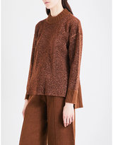 Pringle Stepped-hem lurex knitted jumper