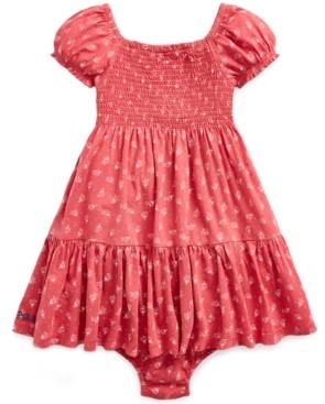 Polo Ralph Lauren Ralph Lauren Baby Girls Smocked Floral-Print Cotton Dress