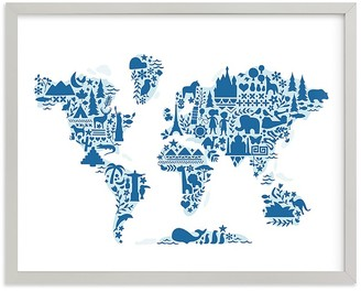 Pottery Barn Kids Little Big World Map Wall Art by Minted