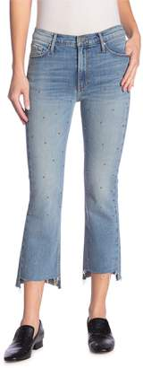Black Orchid Cindy Studded Step Hem Jeans