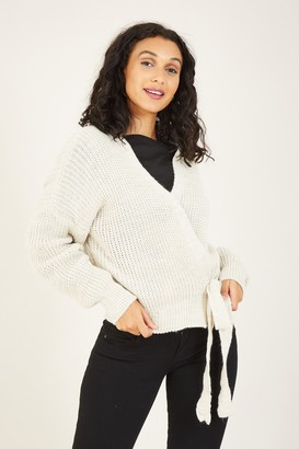 Yumi Knitted Side Knot Cardigan