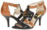 MICHAEL Michael Kors Rustin Open Toe (Dark Walnut/Black) - Footwear