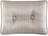 J Queen New York Wilmington Button-Tufted Striped Jacquard Gusseted Boudoir Pillow
