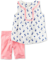 Carter's 2-Pc. Palm-Print Tunic & Shorts Set, Baby Girls (0-24 months)