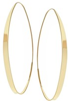 Lana Women's Large Narrow Gloss Magic Hoops