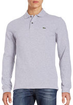 Lacoste Pique Cotton Long-Sleeve Polo