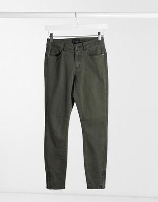 Vero Moda skinny jeans in dark green