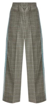 Racil Nitta Houndstooth Wool Blend Trousers - Womens - Grey Multi