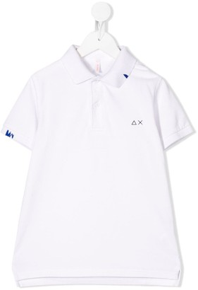 Sun 68 Embroidered Logo Polo Shirt