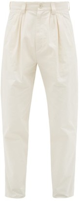 Gucci High-rise Cotton Trousers - Mens - White