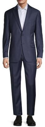 Hart Schaffner Marx Tonal Check Wool Suit
