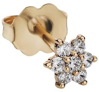 Maria Tash 5.5mm 18kt Yellow Gold Diamond Flower Stud Earring