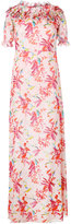 Giamba floral print long dress - women - Silk/Cotton/Polyester/Viscose - 42