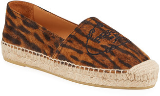 Prada Leopard-Print Flat Slip-On Espadrilles