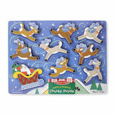 Melissa & Doug Santa's Sleigh Chunky Puzzle
