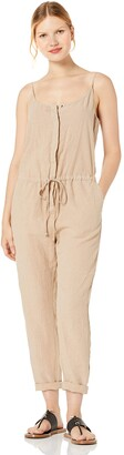 Enza Costa Women's French Linen Strappy Jumpsuit