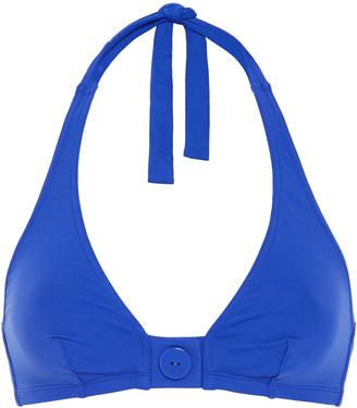 Eres Pop Roller Button-detailed Halterneck Bikini Top