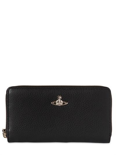 Vivienne Westwood Grained Leather Zip Around Wallet