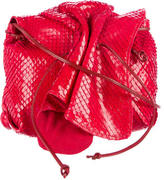 Carlos Falchi Python Butterfly Crossbody Bag