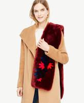 Ann Taylor Floral Faux Fur Stole