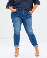 Junarose Five NW Slim Stripe Trim Jeans