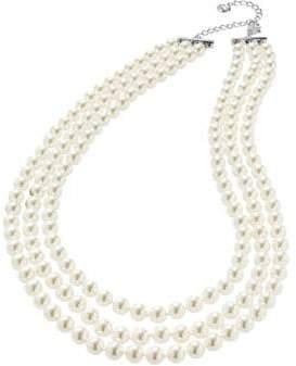 Nadri Three-Row Pearl Necklace