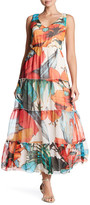 Desigual Floral Ruffle Maxi Dress