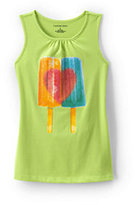 Classic Girls Plus Graphic Tank Top-Flamingo